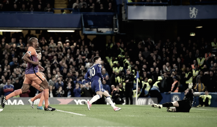 Chelsea 2-1 Manchester City: Hazard stars in nervy win for the Blues