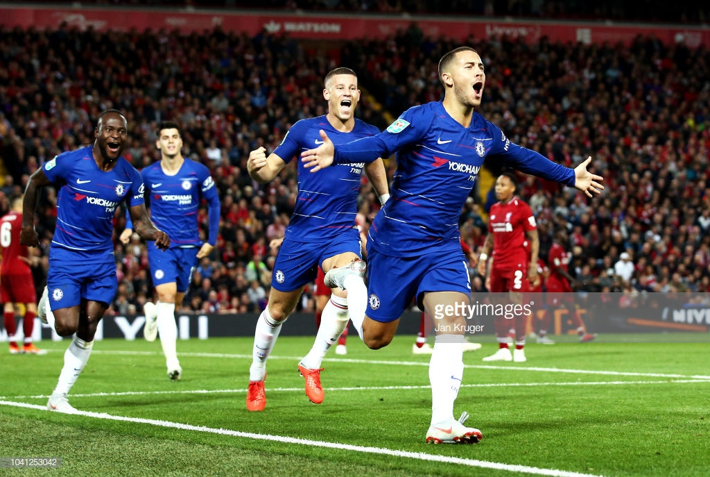 Liverpool 1-2 Chelsea: World class Eden Hazard strike silences Anfield