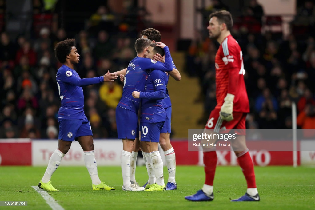 Watford 1-2 Chelsea: Brilliant Hazard inspires Blues to crucial win