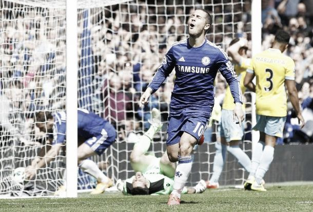Chelsea 1-0 Crystal Palace: Hazard's penalty rebound secures Blues title victory