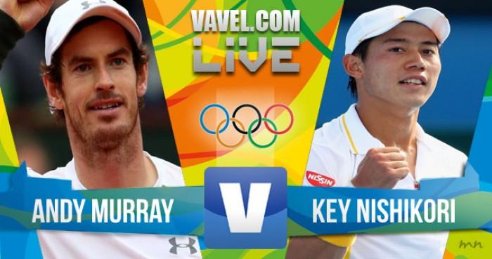 Resultado Murray x Nishikori pela Semifinal do tênis na Rio 2016 (2-0)