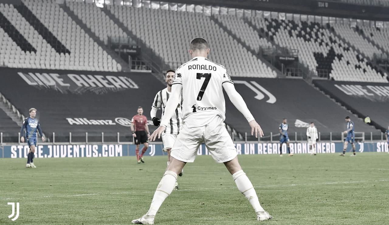 Com dois gols e assistência, Cristiano Ronaldo comanda goleada da Juventus sobre Udinese