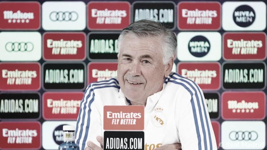 """Ancelotti: """"La semana que viene volverán Mendy, Marcelo y Kroos"""""""