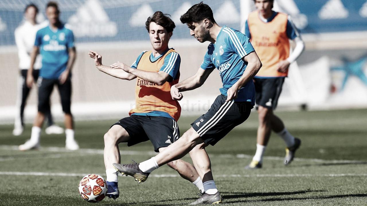 El Real Madrid ya se entrena de cara al partido del Ajax