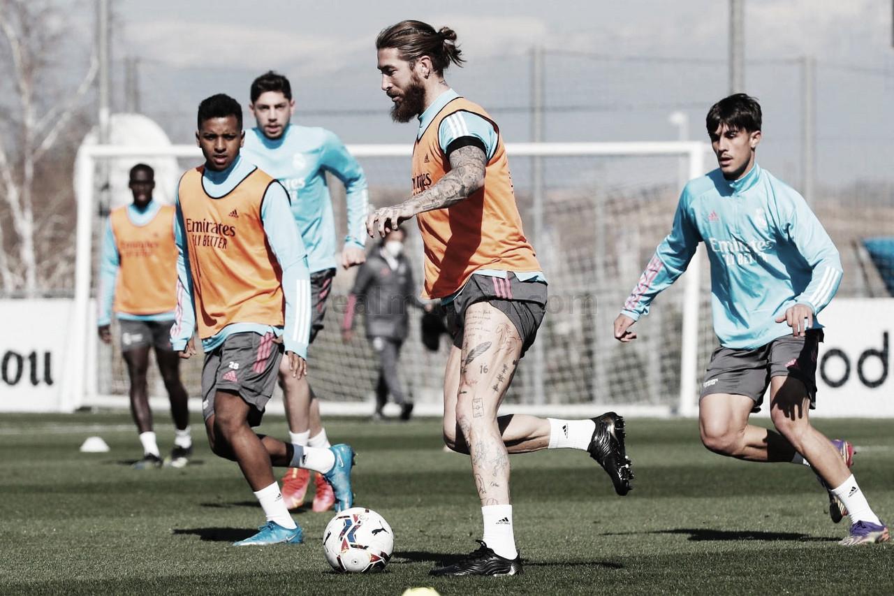 El Real Madrid prepara su próximo partido frente al Elche