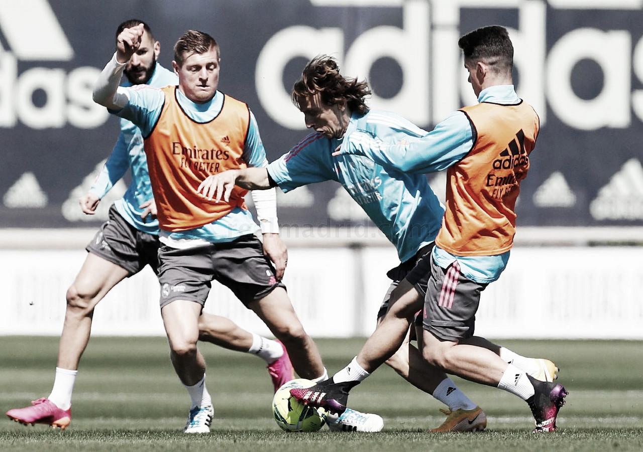 Ramos, Vini y Valverde no se ejercitan en la vuelta a los entrenos