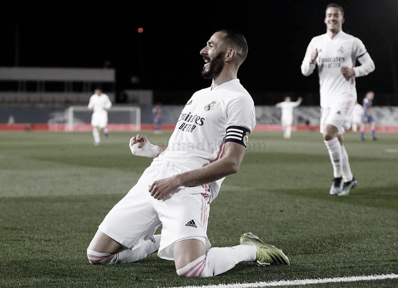 Benzema salda su cuenta con el Clásico