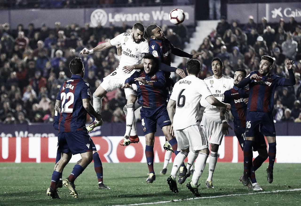 Levante - Real Madrid: puntuaciones del Real Madrid, jornada 25 de LaLiga Santander 2019