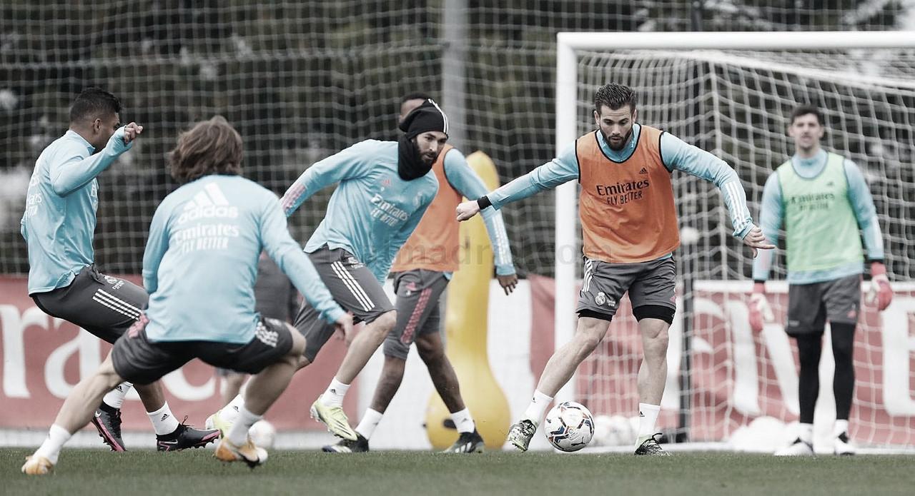 El Madrid continúa preparándose para medirse ante Huesca