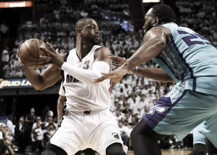 Miami Heat's 58 percent shooting night earns them victory over Charlotte Hornets in Game 2