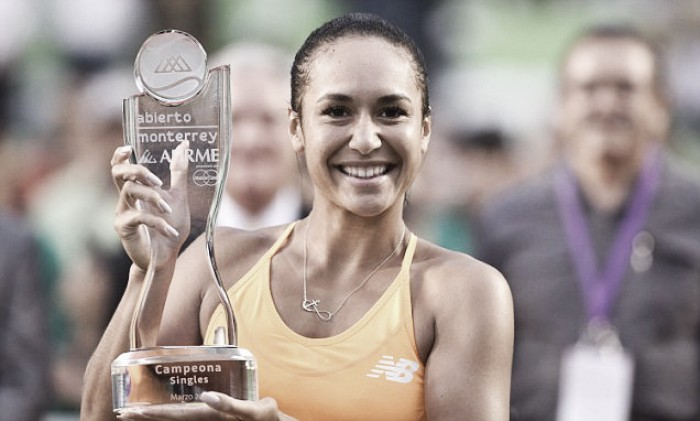 WTA Monterrey: Heather Watson recovers from a set down to win the title