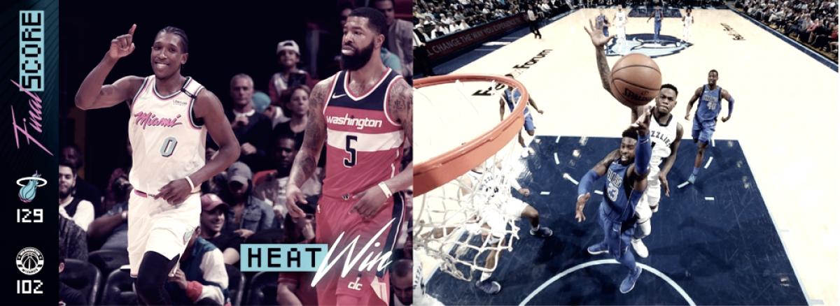 Heat y Mavs subyugaron a sus respectivos rivales