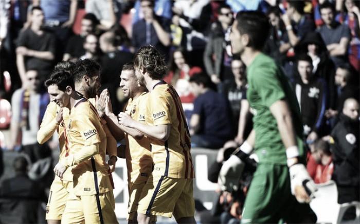 Levante 0-2 Barcelona: Barça continue amazing streak