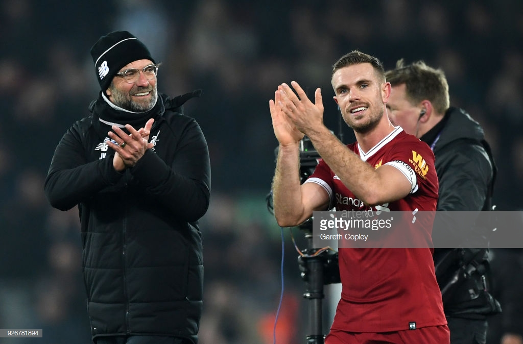 Jürgen Klopp explains why Liverpool captain Jordan Henderson didn't feature against West Ham