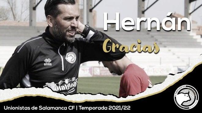 Hernán Pérez decide no continuar en Unionistas y se marcha