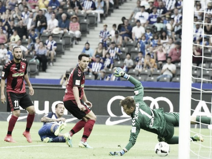 Hertha BSC 2-1 SC Freiburg: Schieber secures win for Hertha deep into stoppage time