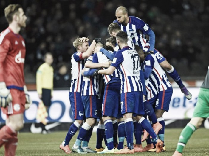 Hertha BSC 2-0 Schalke 04: Capital club continues push to Champions League