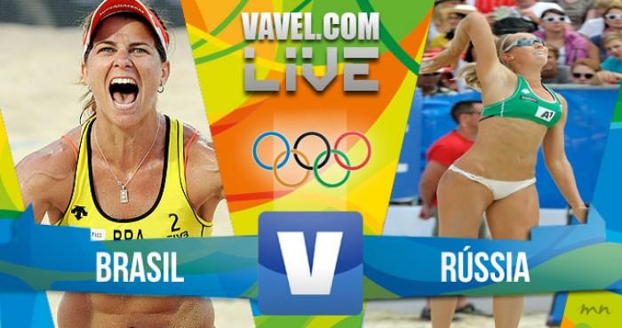 Brasil x Rússia no vôlei de praia feminino dos Jogos Olímpicos (2-0)
