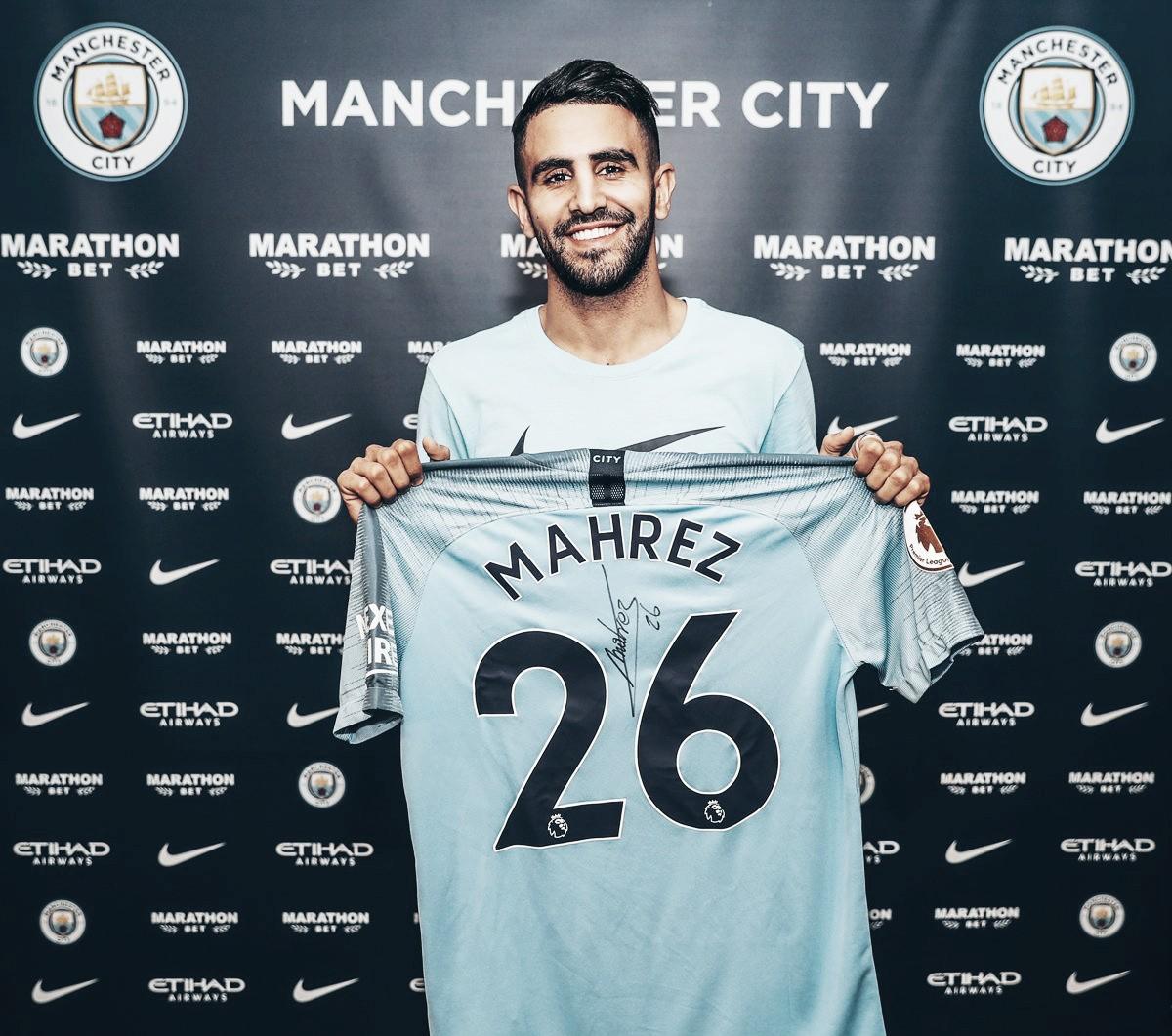 Riyad Mahrez es nuevo jugador del Manchester City