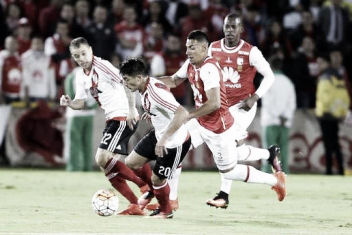 Independiente Santa Fe y River Plate no se hicieron daño en el primer sorbo de la Recopa Sudamericana