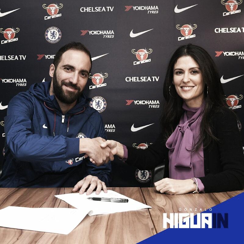 Chelsea confirma acerto com Gonzalo Higuain, por empréstimo