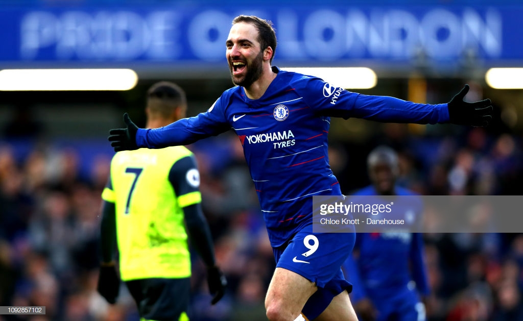 Chelsea 5-0 Huddersfield Town: Blues ease pressure on Sarri with five-star performance to move back into the top-four