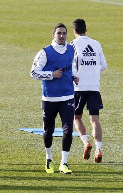 Liga BBVA española: Gonzalo Higuaín recuperado de su lesión