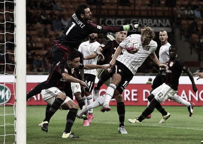 Palermo - Milan in Serie A 2015/16 (0-2)