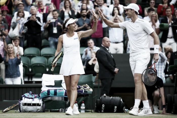 Jamie Murray y Martina Hingis vencen en el dobles mixto