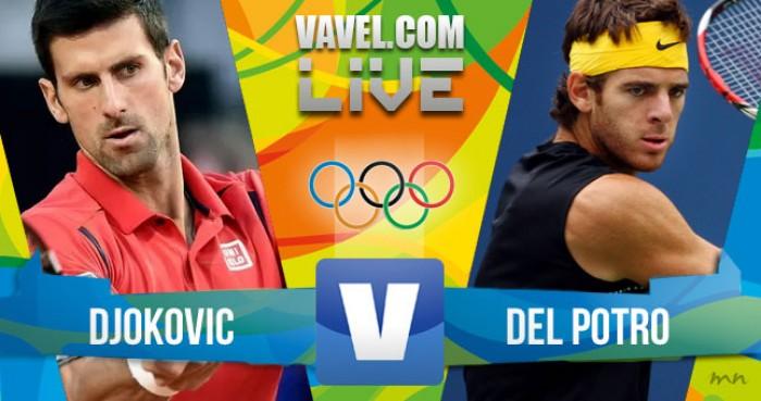 Resultado Novak Djokovic x Juan Martín Del Potro no tênis masculino dos Jogos Olímpicos (0-2)