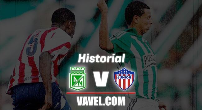 Historial entre Atlético Nacional y Atlético Junior