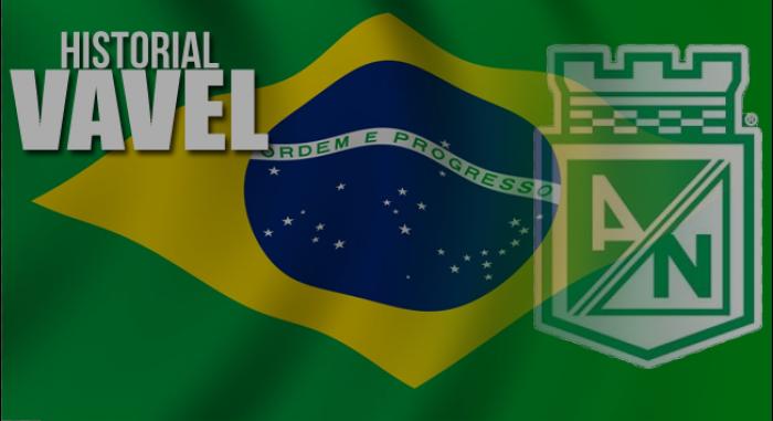 Historial de Nacional visitando Brasil
