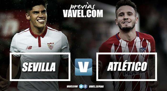 Previa Sevilla FC - Atlético de Madrid: sin Costa para la remontada