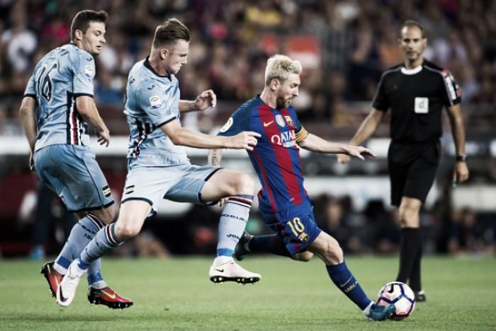 Com show de Messi, Barcelona bate Sampdoria e conquista troféu Joan Gamper