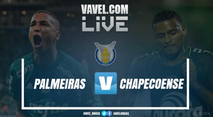 Resultado Palmeiras x Chapecoense no Campeonato Brasileiro 2017 (0-2)