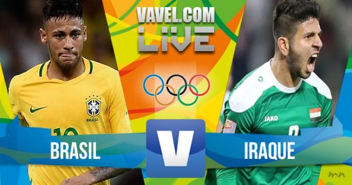 Jogo Brasil x Iraque no futebol masculino dos Jogos Olímpicos (0-0)