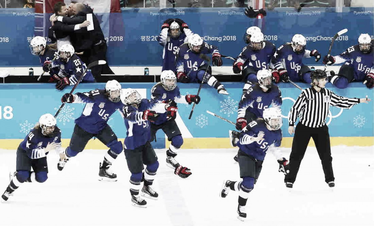 Ellen DeGeneres permanently honored the gold medal-winning U.S. women's hockey team