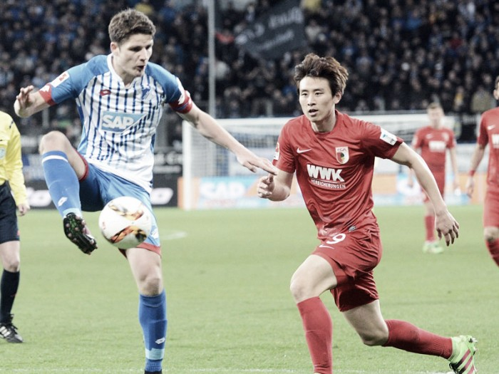 TSG 1899 Hoffenheim 2-1 FC Augsburg: Uth adds impetus in battle to beat the drop