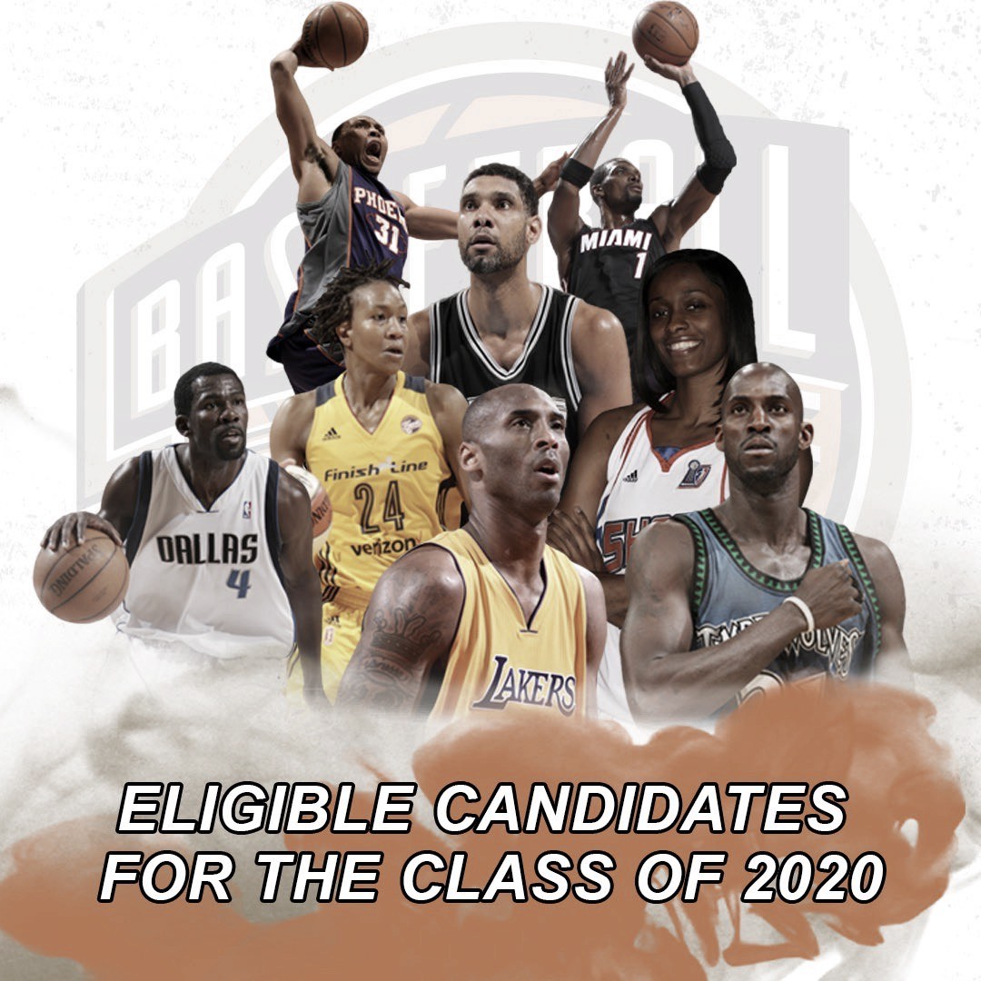 Candidates are announced for the 2020 Naismith Memorial Basketball Hall of Fame