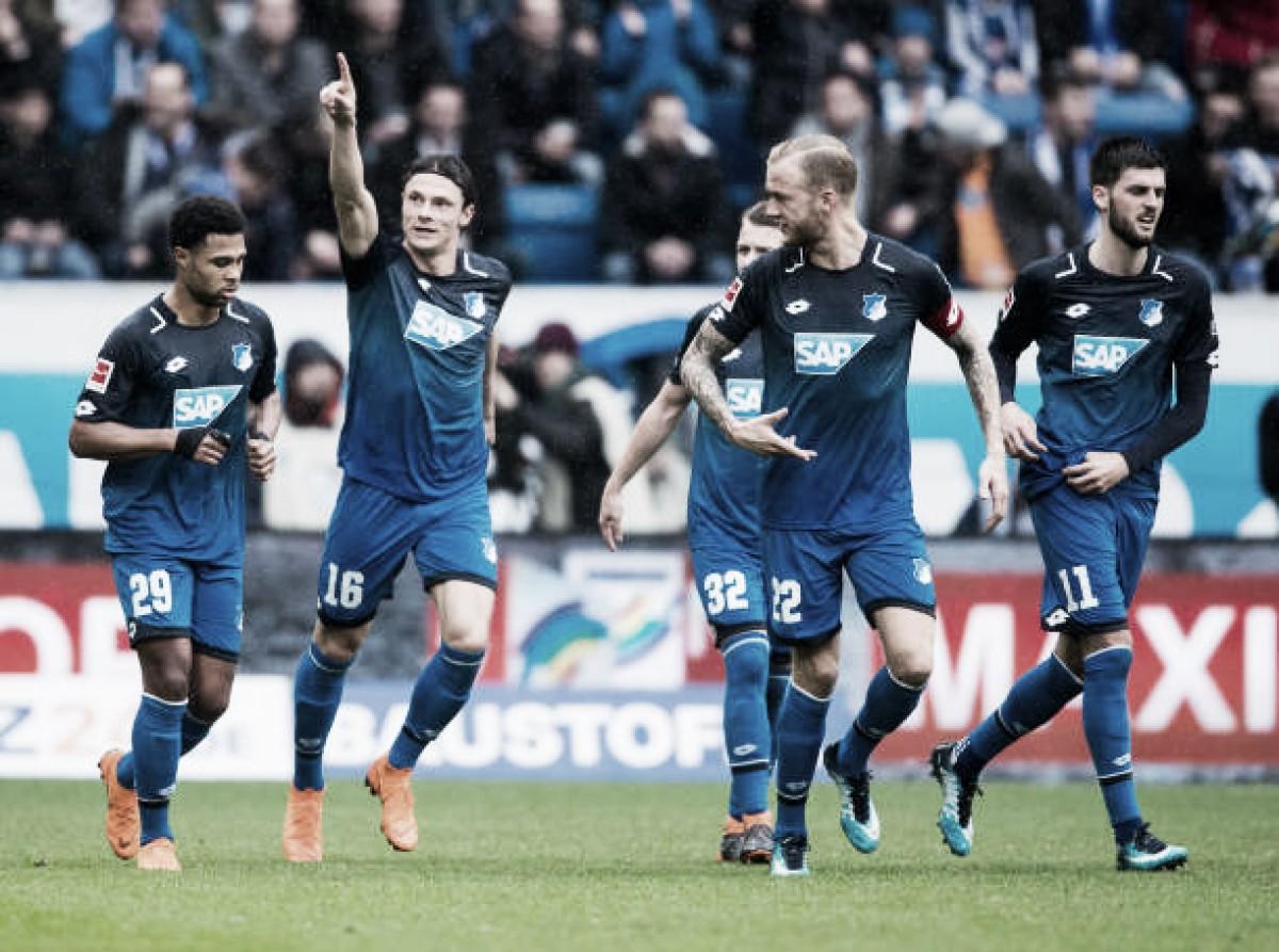 Hoffenheim bate Wolfsburg com autoridade e volta a se aproximar de classificação à Europa League