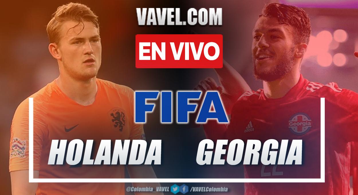 Resumen Países Bajos vs Georgia (3-0) en partido amistoso 2021