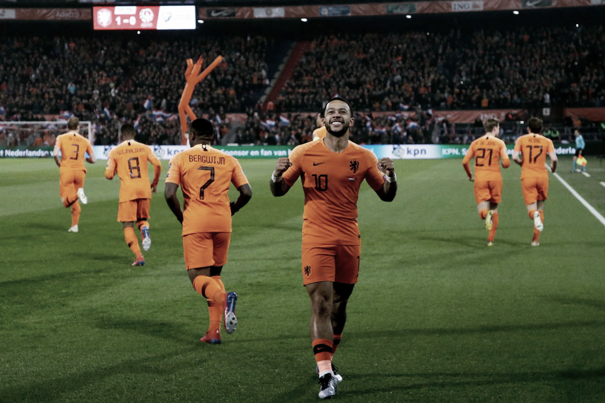 Depay brilha e comanda goleada da Holanda sobre Belarus na largada das Eliminatórias da Euro