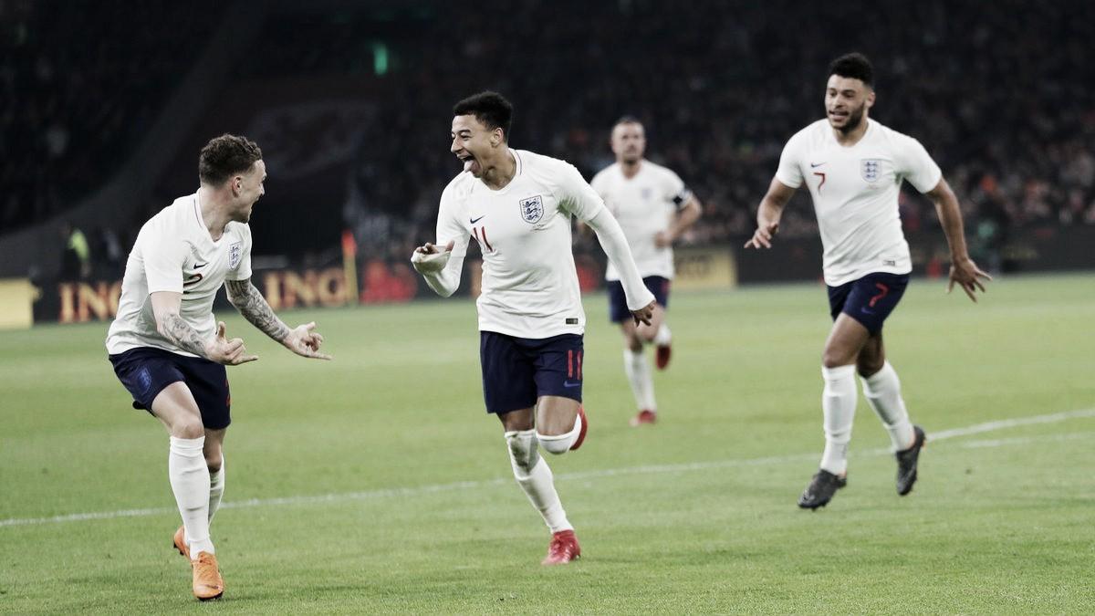 Na estreia de Ronald Koeman no comando da Holanda, Inglaterra vence com gol de Lingard