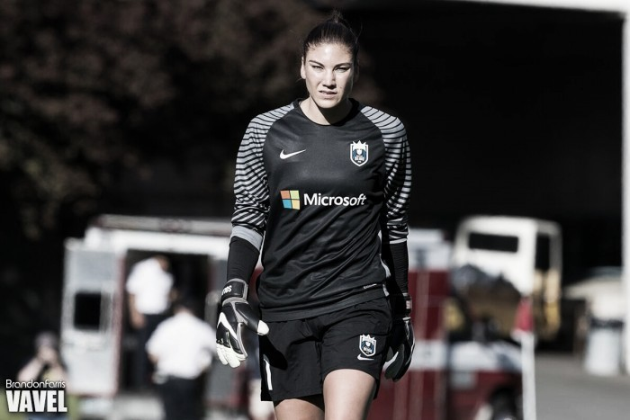 Hope Solo's first step back toward U.S.  women's soccer team