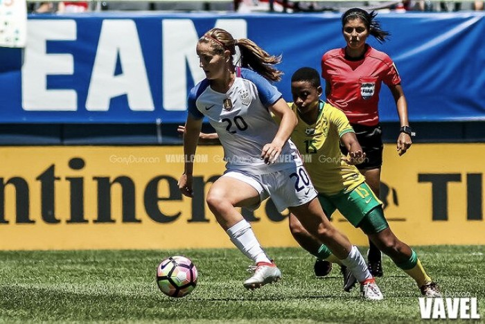 US national team midfielder Horan sidelined with hip injury