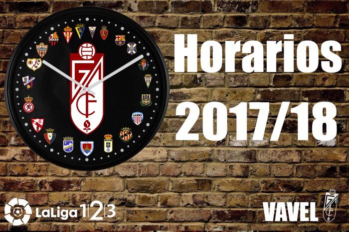 Calendario completo Granada CF, temporada 2017/2018