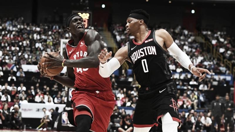 Na estreia de Westbrook, Houston Rockets perde para Toronto Raptors em amistoso no Japão