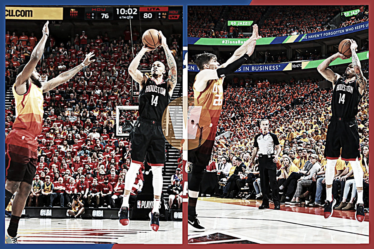 PlayOffs NBA: Con distancia de un triple Rockets se pone 3-0