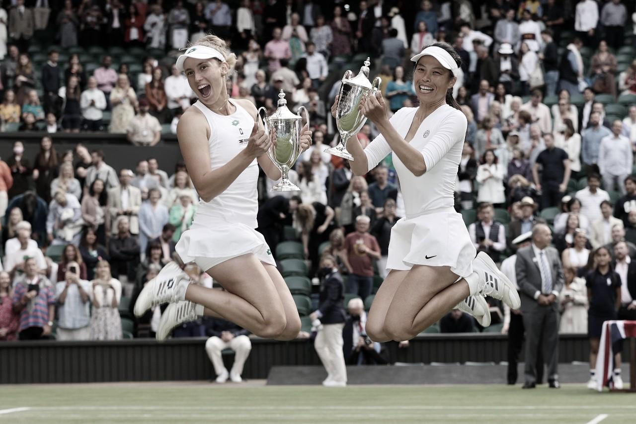 Hsieh/Mertens conquistam Wimbledon em final épica contra Kudermetova/Vesnina