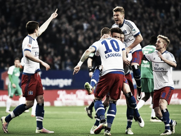 Hamburger SV 2-1 Werder Bremen: Lasogga leads HSV to derby delight